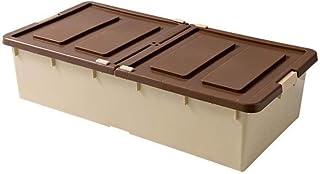 Storage Basket Boîte de rangement LHY en plastique avec couvercle sous le lit - Boîte de rangement à poulie plate - Boîte ...