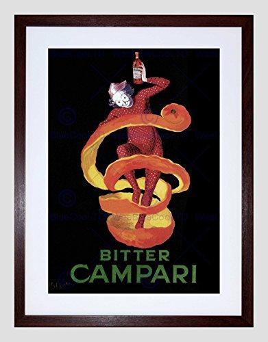Wee Blauwe Coo Ad Campari Bitter Pierrot Harlekijn Alcohol Voedsel Frankrijk R Omlijst Muur Art Print