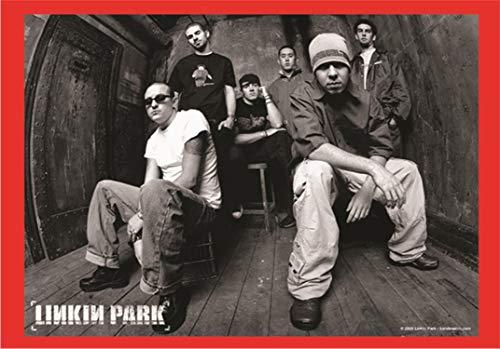 Heart Rock Original Linkin Parkband B-W, Stoff, mehrfarbig, 110 x 75 x 0,1 cm