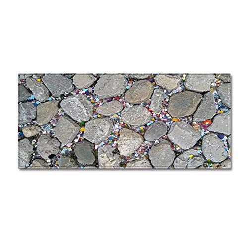 Oukeep 3D Simulation Marble Printed Carpet Suitable For Long Floor Mats For Hallways, Kitchens And Bathrooms Thicken Non-Shedding Carpet