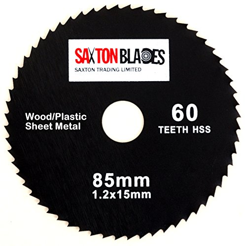 Saxton GPB8560T HSS Kreissägeblatt, 85 mm x 60 Zähne, kompatibel mit Worx Worxsaw Bosch Makita Ryobi