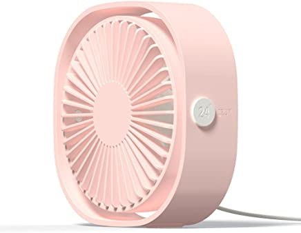 Portable Fan, 5V 1A Square Mini USB Rechargeable Fan for Traveling,Fishing,Camping