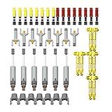 Lommer Juego de piezas de repuesto técnicas, 44 piezas, amortiguadores, plataforma, accesorios para el coche, tecnología de bloques de sujeción, compatible con Lego Technic