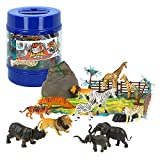 ColorBaby - Bote con animales salvajes Animal World, 22 piezas (43433)