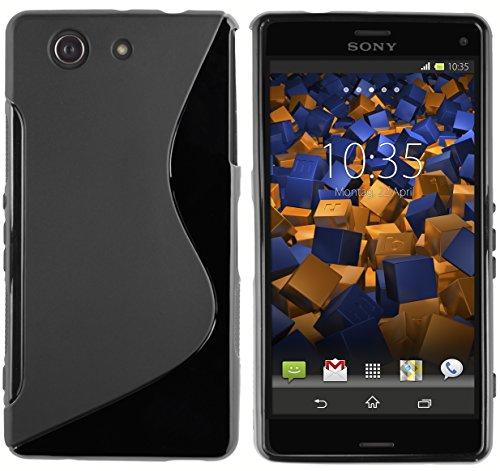 mumbi Custodia in S-TPU Compatibile con Sony Xperia Z3 Compact, Nero