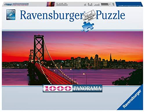 Ravensburger Puzzle Puzzle 1000 Pezzi, San Francisco, Formato Panorama, Puzzle per Adulti, Puzzle San Francisco, Puzzle Ravensburger - Stampa di Alta Qualità
