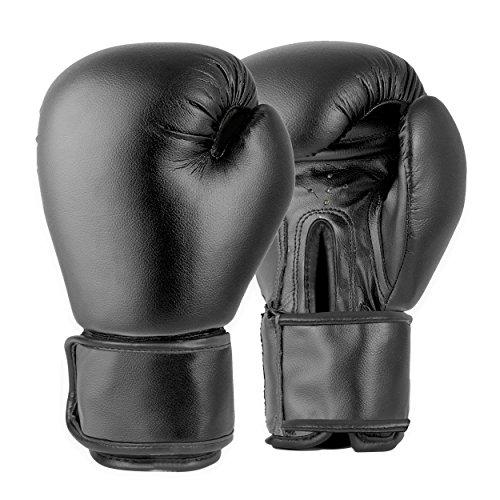 Lions Boxing Gloves MMA Punch Bag Training Mitts 6oz, 8oz, 10oz, Black (Black, 10oz)