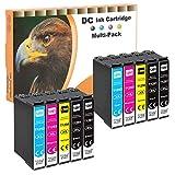 D&C - Juego de 10 cartuchos de tinta compatibles con Epson 129-XL T-1291 T-1292 T-1293 T-1294 para Workforce WF-3520 WF-3540 WF-7525 WF-7515 Stylus SX-235 SX-425 SX-445 SX-5 Office BX-630 .