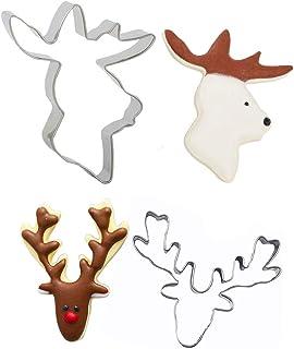 Reindeer Head Cookie Cutter 05Fondant Décoration GâteauVendeur Britannique