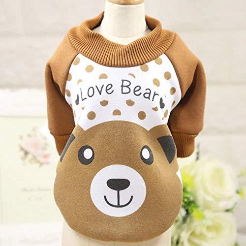GOUSHENG-Costumes Haustiere Kleidung Kleider Winter Hundebekleidung Für Kleine Hunde Warme Süße Haustiere Hundemantel Kleidung Für Hunde Baumwolle Haustier Hoodies Chihuahua Kleidung York 35 S1, Kaffe