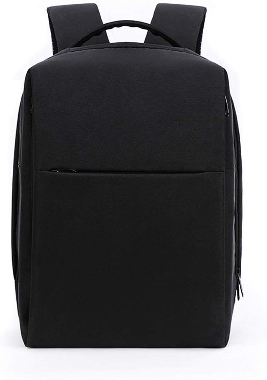 CHENG BAG Business-Rucksack, Paket Laptop USB Ladeanschluss Reise Tragbar Schultasche Geschftsreise Büro Hohe Kapazitt Wasserdicht Einfach Mnner (Farbe   Schwarz, gre   Backpack)