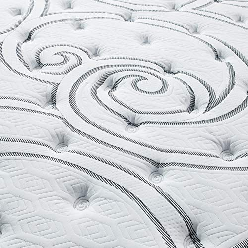 Vibe Quilted Gel Memory Foam and Innerspring Hybrid Pillow Top 12-   Inch Mattress, Full