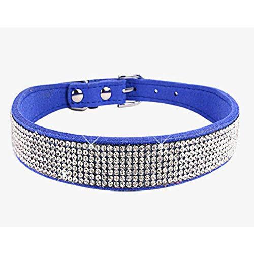 IUOU Personalisierte Hundehalsband Hundehalsband Haring Bling Strass Kristall Diamant Welpenhalsband Hundehalsband Yorkshire Terrier XXS-XXL