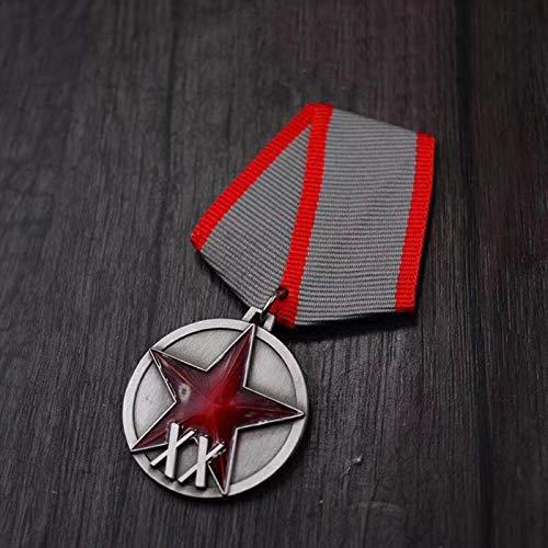 YUNjun SowjetischeArbeiter Bauern Rote Armee 20 Jahre Medaille Rot Fünf Sterne UDSSR Venus Held Ehre Rote Flagge Lenin Kollektion Tragen Abzeichen