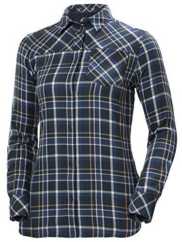Helly Hansen Lokka T-Shirt à Manches Longues pour Femme M Carreaux Bleu Marine.