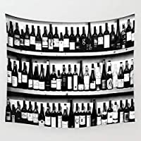 HYTGDタペストリー 壁掛ワインボトルタペストリー壁掛け壁の装飾寝室家の装飾壁タペストリーヨガマット