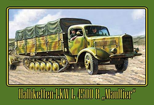FS vrachtwagen halve ketting molltier groen legerbord bord gebogen metalen teken 20 x 30 cm