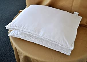 Natural Comfort White Microfiber Down Alternative Gel Like Pillow with Embossed Covering, Queen, Set of 2