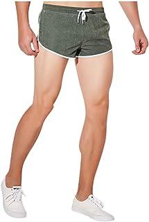 waitFOR Men Solid Color Swimming Trunks Elastic Waist Slim Fit Hot Pants Beach Shorts Drawstring Boxer Briefs Underwear Ca...