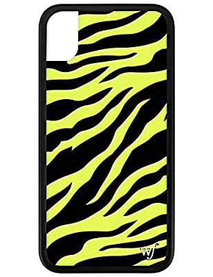 Wildflower Limited Edition Cases for iPhone XR (Neon Yellow Zebra)