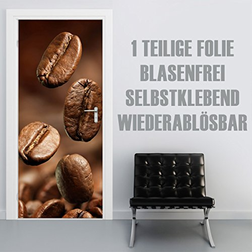XXL-behang deurbehang zelfklevend deurposter deurfolie sticker kleeffolie keuken keuken keuken tafel achterwand tegelspiegel spatscherm Natuur 90x210cm Coffee Beans