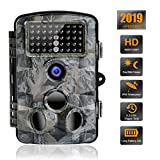 Trail Camera 16MP 1080P Waterproof Wildlife Scouting Camera Hunting Camera with 120° Wide