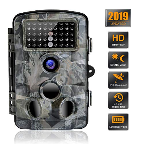 Trail Camera 16MP 1080P Waterproof Wildlife Scouting Camera Hunting Camera with 120° Wide Angle...