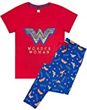 Manga Corta/Pantalones de Pijama de la Mujer Maravilla Logotipo de Las Mujeres