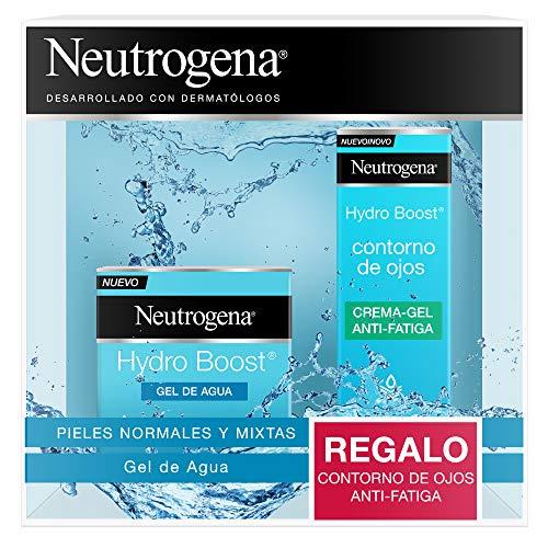 Neutrogena Hydro Boost Hidratante Facial Pack, Gel de Agua y Contorno de Ojos, 15 ml