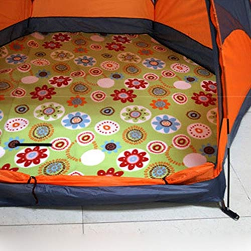 huihui Isomatte Outdoor-Camping-Picknick Hexagon verdicken feuchtigkeitsfest Isomatte Pad (Grün Sun Flower) (Color : Green Sun Flower)