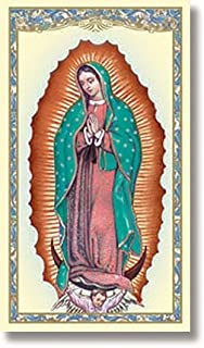 Virgen de Guadalupe- Tarjetas de Oración/Estampitas en Español con Novena a Nuestra Señora de Guadalupe - (Pack 10 unidades) Our Lady of Guadalupe Prayer Card in Spanish (10 Pack)