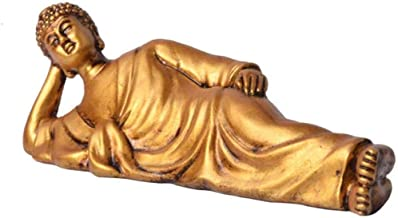Sculptures Home Statues Resin Decorations Sleeping Buddha Home Decoration Desktop Decoration-B_Size:16.5 * 4.5 * 5Cm