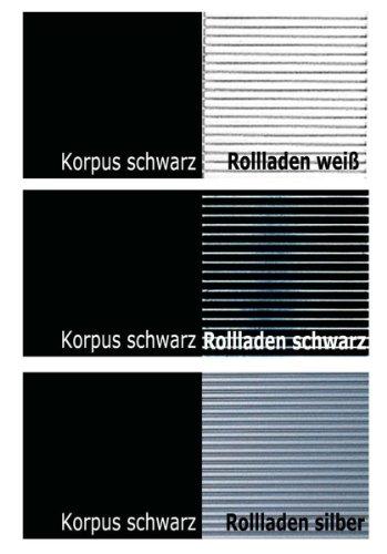 KLENK Collection - Aktenschrank -Rollladenschrank schwarz - weiß