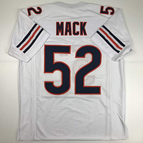 Unsigned Khalil Mack Chicago White Custom Stitched Football Jersey Size Men's XL New No Brands/Logos