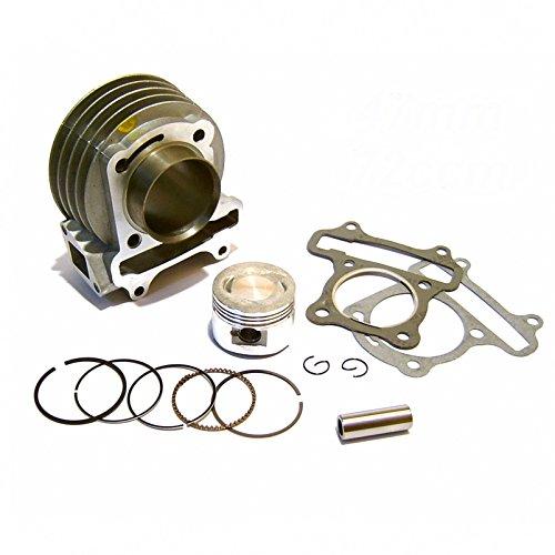 Tuning Zylinder Kit 72ccm 47mm für 4-Takt Motoren 139QMA/139QMB GY6* geeignet z.B. fà ¼ r Rex RS BENERO AGM GMX/web. de JMSTAR YIBEN ZNEN SARO Personenleitsystem/China Roller 50