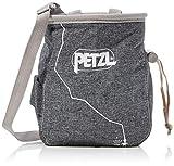 PETZL Saka Climbing Chalk Bag with Belt, Gray, One Size