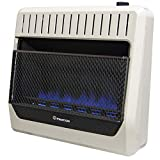 ProCom MG30TBF Ventless Dual Fuel Blue Flame Wall Heater Thermostat Control – 30,000 BTU, White