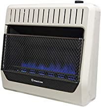 ProCom MG30TBF Ventless Dual Fuel Blue Flame Wall Heater Thermostat Control – 30,000 BTU, White
