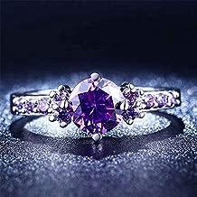 shelian Colorful Gemstone Heart-Shape Zircon Gem Ring Elegant Glittery Jewelry Ornament Lodestar