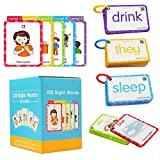 H&W 220 Sight Words Flash Cards, English Flash Card for Toddlers, High-Frequency Vocabulary flashcard kit Suitable for 4-9 Years Old Preschool, Kindergarten and First, Second and Third Grade