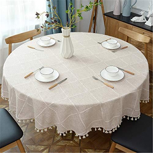 MMHJS Plaid Tavolino da Salotto Fresco Tavolino Tavolino Tondo Tovaglia Casa Tavolo B Diametro 180cm
