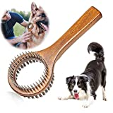 PetGens Rastrillo de pelo para perros y gatos, cepillo de cerdas de mascotas, cepillo de doble cara para mascotas
