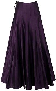 MASSAYA Women's Skirt (MS 662, Wine, Free Size)
