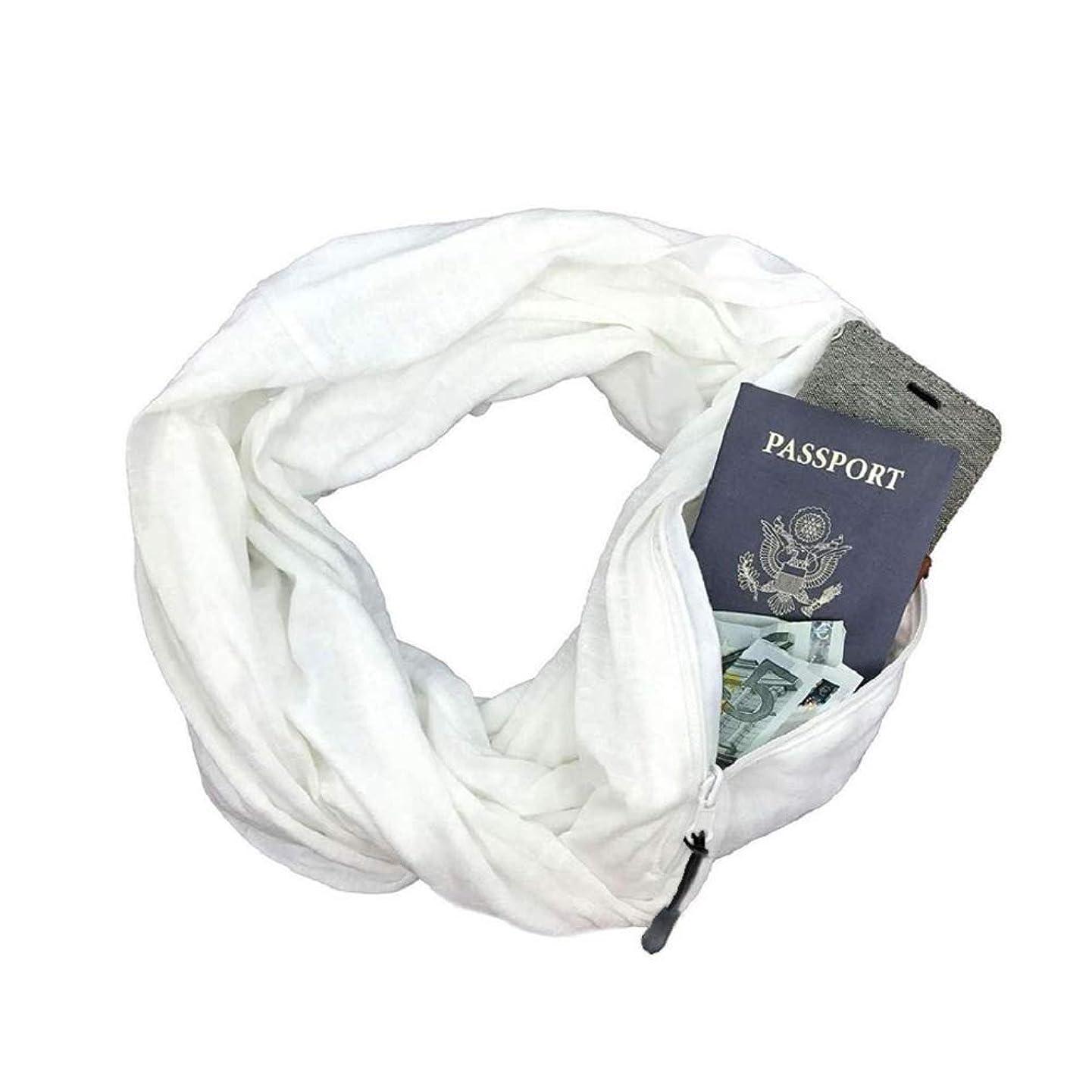 Aublary Infinity Scarf with Secret Hidden Zipper Pocket Travel Scarf Women Fall Winter Warm Wrap Scarf