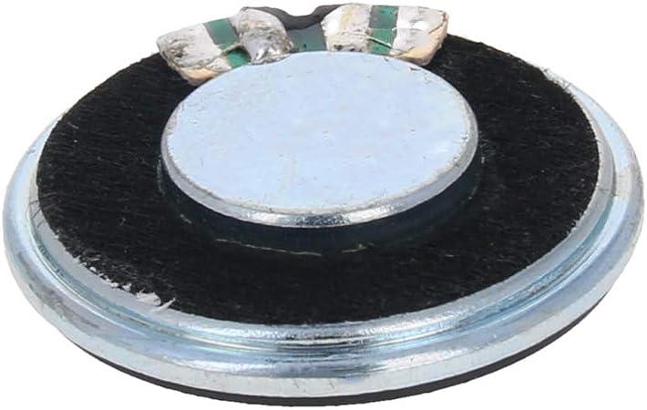 uxcell 0.25W 8 Ohm Mini DIY Magnetic Audio Speaker Loudspeaker 27mm Round Shape Green 4pcs