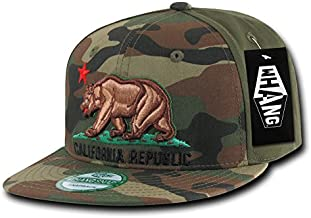 WHANG Camo California Republic Snapbacks