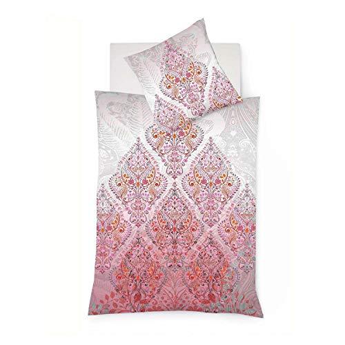 fleuresse Mako-Satin Bettwäsche Bed Art S Kerava Exotic red 1 Bettbezug 240 x 220 cm + 2 Kissenbezüge 80 x 80 cm