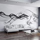 ZJJBH 3D Tapete Selbstklebende Wandbild (B) 200X (H) 150Cm Rauch Fototapete Moderne Wandbild 3D Ansicht Tapete Designer Kunst Schwarz-Weiß Raumdekoration Schlafzimmer Büro Wohnzimmer -...