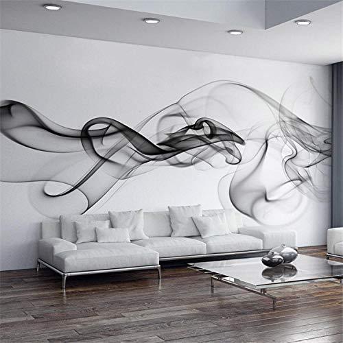 WHYBH 3D Wallpaper Modernes Wandbild Selbstklebend (B) 300X (H) 210Cm Rauch Fototapete Modernes Wandbild 3D View Wallpaper Design Kunst Schwarz Und Weiß Raumdekoration Schlafzimmer Büro Wohnzimmer