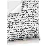 Vinilo Adhesivo para Muebles y Pared, 45 x 200 cm, Escritura, Fondo Blanco, VNL-012